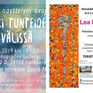 """Kankaanpään galleriassa Lea Bisio """"Palasista koostuva"""" ja Saara Nurmi """"Hetki tunteiden välissä"""" -näyttelyt"""