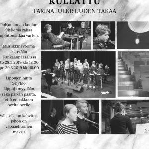 Pohjanlinnan koulun 9B-luokan musiikkinäytelmä Kankaanpääsalissa to 28.3. ja pe 29.3.